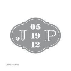 Custom Wedding Monogram / Logo  Elegant Vintage by TypeTen on Etsy, $10.00