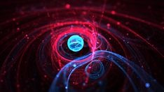 Space & Particles by Jan Robbe, via Behance
