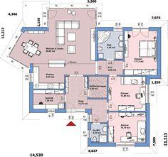 Erdgeschoss On Top 149 Fertighaus Small Floor Plans, House Floor Plans, Prefabricated Houses, Prefab Homes, Floor Plan Sketch, Circle House, Villa Plan, Architectural Design House Plans, Small House Design