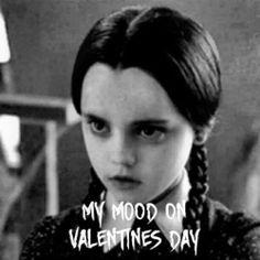 Wednesday Addams on Valentine's Day