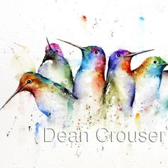 KOLIBRIS-Aquarell-Print von Dean Crouser