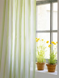 Green Striped Curtains!!!!!   Sheets?