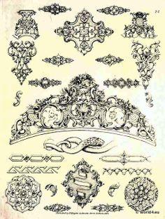 alte rokoko barock ornamente ornamente pinterest suche. Black Bedroom Furniture Sets. Home Design Ideas