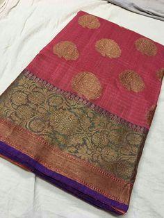Banaras semi dupoin sarees Price:3350 Order what's app 7995736811