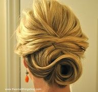 cute low up-do