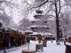 #Chinesischer Turm #Englischer Garten #Munich Christkindlmarkt
