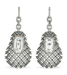 Diamond ear pendants by JAR Paris