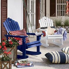 Rocking Adirondack Chair  by Country Door, via Flickr