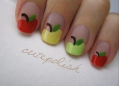 Quick and Easy Delicious Apples Nail Art Tutorial