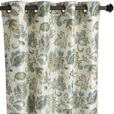 Glencove Floral Blue 84 Grommet Curtain Craftsman BathroomPier 1 ImportsCurtains Living RoomsDining