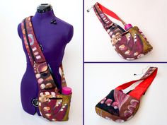 Cross-Body Hipster Bag with Water and Phone pockets sewing pattern by TutorialGirl on Etsy https://www.etsy.com/listing/183252823/cross-body-hipster-bag-with-water-and