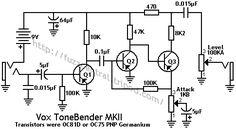 Vox ToneBender MKII Schematic