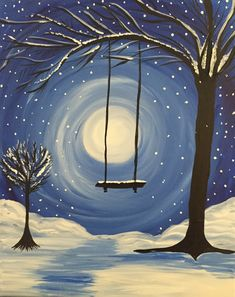 Whimsical Winter at Slate Bar and Grill - Dining Room - (Financial District) - Paint Nite Events near Boston, MA