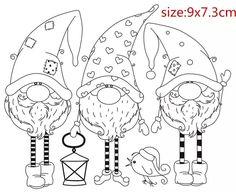 Online Shop Santa Claus stamp Shape Metal Cutting Dies for Scrapbooking DIY Album Embossing Folder Paper Template Decor Stencils Christmas Gnome, Christmas Colors, Christmas Art, Xmas, Colouring Pages, Coloring Sheets, Coloring Books, Diy Scrapbook, Scrapbooking