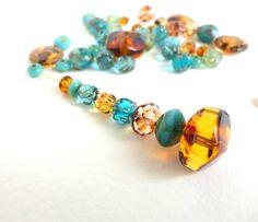 45 x Ocean Forest Czech Glass Beads Bead Soup Bead Mix by Snoochy, £5.10