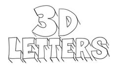 How to Draw 3D-Letters Step 4 http://www.drawingteachers.com/how-to-draw-3d-letters.html