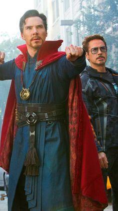 Avengers Infinity War. Doctor Strange with Robert Downey Jr. AKA Iron Man....