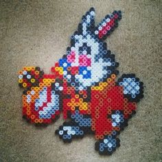 White Rabbit - Alice perler beads by beebysbeadsprites