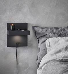 Kubik vegglampe - Sort - Vegglamper. Fra Marksløjd