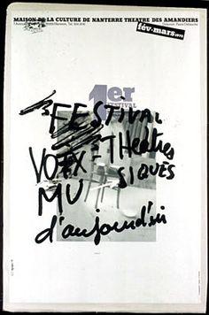 1er Festival voix, théâtres, musiques d'aujourd'hui. Maison de la culture de Nanterre, Théâtre des Amandiers. fév.-mars 1978