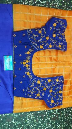 Zardosi Embroidery, Hand Work Embroidery, Rose Embroidery, Blouse Designs Silk, Designer Blouse Patterns, Latest Embroidery Designs, Machine Embroidery Designs, Maggam Works, Stylish Blouse Design