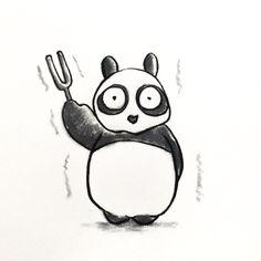 【一日一大熊猫】 2014.9.26 音叉は純音を発するから調律に使われるね。 YAMAHAは音楽事業だけでなく、バイクなどの事業も 音叉が三本重なった社章を使っているよ。 #音叉 #パンダ