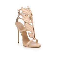 GIUSEPPE ZANOTTI Cruel Summer ❤ liked on Polyvore featuring shoes, sandals, leather sole shoes, leather ankle strap sandals, ankle strap high heel sandals, leather platform sandals and double buckle sandals