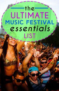 The Ultimate Music Festival Essentials List