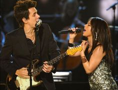 John Mayer and Alicia Keys perform at the 50th Annual GRAMMY Awards held at Staples Center on Feb. 10, 2008