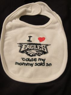 I love Philadelphia Eagles 'cause my daddy by handmadehairbows