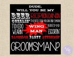 Groomsman Proposal Cards  Printable File by WhimsicalStationary, $8.99