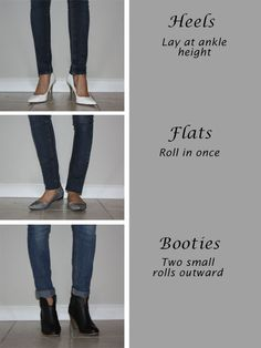 How to wear skinny jeans with different types of shoes