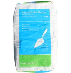 Pre mixed natural hydraulic lime and sand. A general purpose lime mortar for building or pointing stone, brick and block: available in different strengths, different sand  gradings and colours.