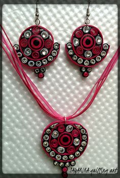 Quilling necklace set 3