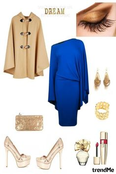 blue and gold from rina01 - trendme.net Fall Winter, Autumn, Gold Set, Blue Gold, Image, Collection, Fashion, Moda, Fall Season
