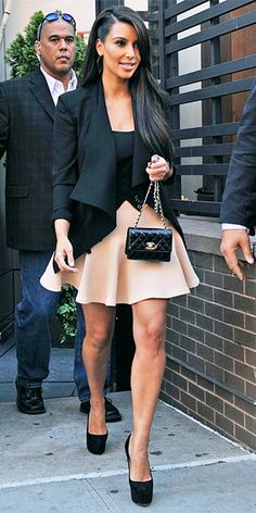 HATE HER, but love this look. great balance with the proportions