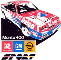 AC Delco Manta 400 Racing Car Design, Event Logo, Auto Design, Rear Wheel Drive, Rally Car, Race Cars, Automobile, Garage, Sketches
