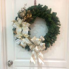 Christmas Wreath Noel Christmas Wreath by BriEllaCreations on Etsy