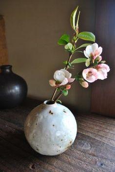 flower vase by Shinichiro KANOYA, Japan Love Flowers, My Flower, Flower Art, Beautiful Flowers, Japanese Pottery, Japanese Ceramics, Flower Vases, Ikebana Flower Arrangement, Floral Arrangements