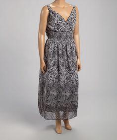Loving this Black Jungle Surplice Maxi Dress - Plus on #zulily! #zulilyfinds