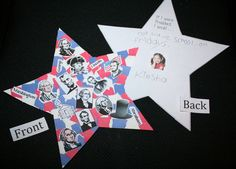 "FREE Patriotic Star ""craftivity"" 2 star templates.   One is generic so you can use it for any patriotic holiday, or Constitution Day. The other is perfect for President's Day/week. Both have writing prompts on the back. Ripping & tearing paper is a terrific fine motor skill to help strengthen hand 7 finger muscles."