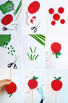 Oh Happy Day!~ Apple Pie Topper- October, 1 by Kathleen Ballos. (Apple Pom-pom.)