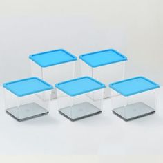 Disha Food Grade Unbreakable Container 5 Pcs Blue - Add oodles of style to your home with an exciting range of designer furniture, furnishings, decor items and kitchenware. We promise to deliver best quality products at best prices.