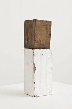 Fernanda Gomes (b. 1960, Brazil) Untitled, 2012 wood, brick, plaster 29.4 x 8.3 x 8.3 cm / 11 5/8 x 3 1/4 x 3