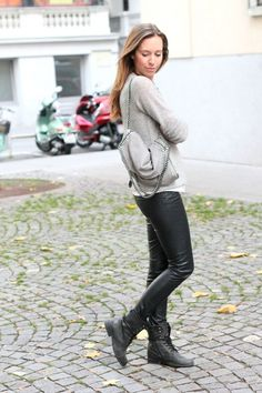 7 Street Style Ways to Wear Leather Pants during The Day ... | All Women Stalk