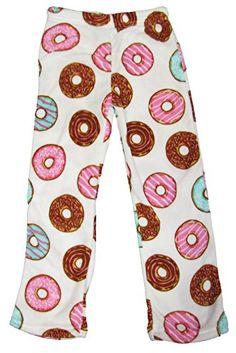Fun Boxers Girls Donuts Plush Pants-Small