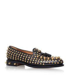 GUCCI Sagan Stud Loafers. #gucci #shoes #