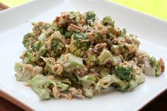 hcg diet phase 3 recipe: Bacon Broccoli Salad