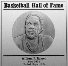 In 1975 Bill Russell Was Indouced The Naismith Memorial Basketball Hall Of Fame