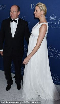 Princess Charlene of Monaco is glamorous in floor-length white Dior gown at the LA Gala event. 'The Prince and Princess of Monaco are happy to confirm they are expecting twins at the end of the year. Fürstin Charlene, Princesa Charlene, Princess Stephanie, Princess Caroline, Prince Albert, Grace Kelly, Wilshire Hotel, Albert Monaco, Royals